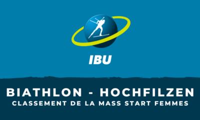 Biathlon - Hochfilzen : le classement de la mass start femmes
