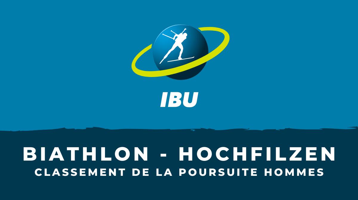Biathlon - Hochfilzen : le classement de la poursuite hommes
