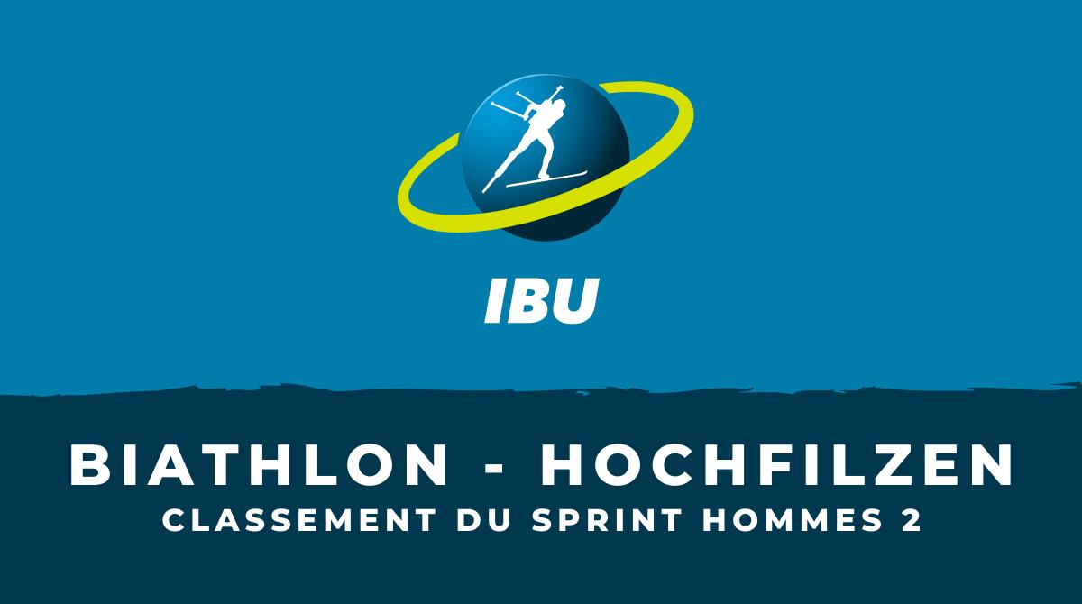 Biathlon - Hochfilzen : le classement du deuxième sprint hommes