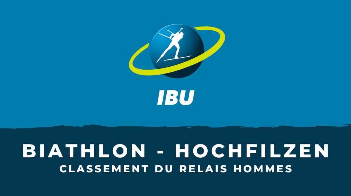 Biathlon - Hochfilzen : le classement du relais hommes