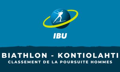 Biathlon - Kontiolahti : le classement de la poursuite hommes