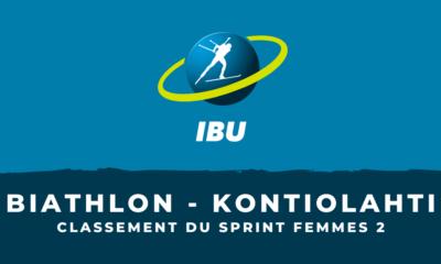 Biathlon - Kontiolahti : le classement du deuxième sprint femmes