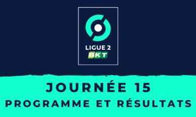 Calendrier Ligue 2 2020/2021 - 15ème journée : Programme et résultats