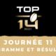 Calendrier Top 14 2020/2021 - 11ème journée : Programme et résultats