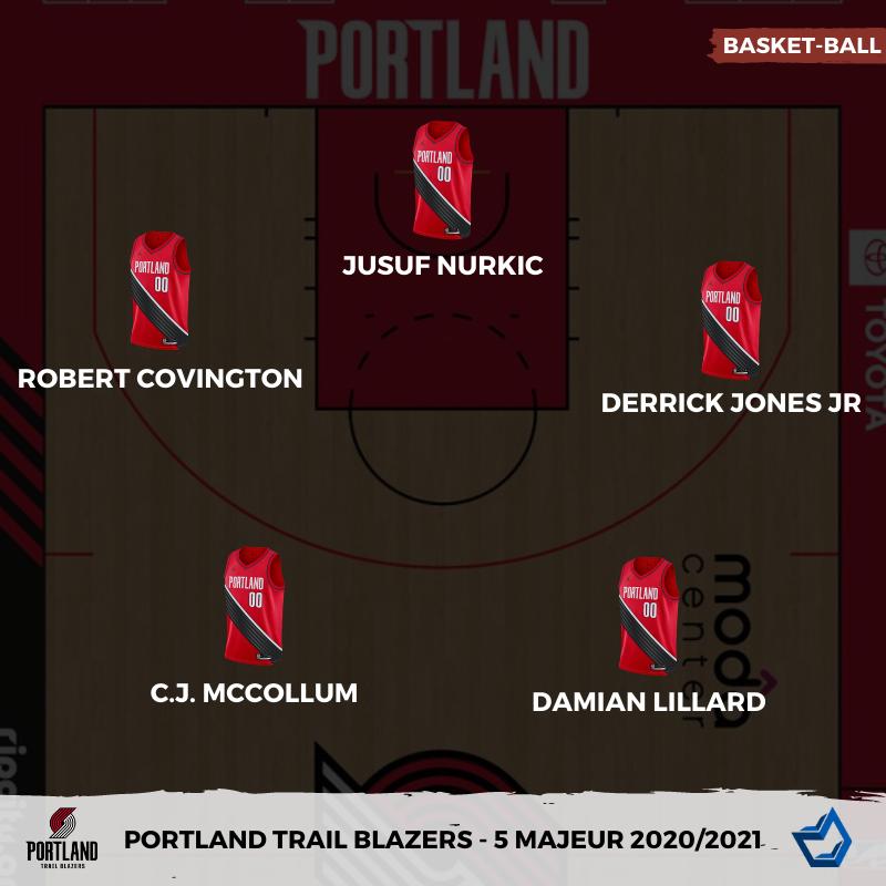 NBA - Portland Trail Blazers - 5 Majeur 2020-2021
