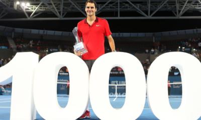 11 janvier 2015 - 1000ème victoire de Roger Federer sur le circuit ATP