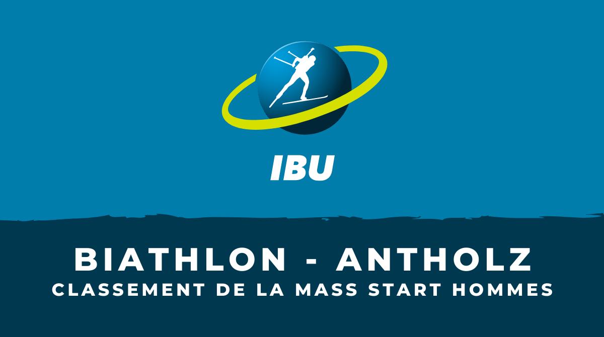 Biathlon - Antholz-Anterselva - Le classement de la mass start hommes