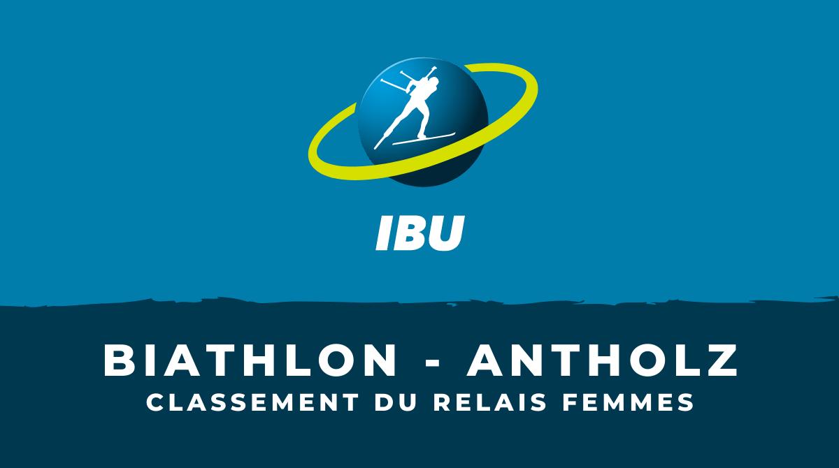 Biathlon - Antholz-Anterselva - Le classement du relais femmes