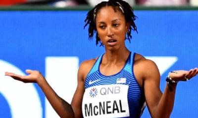 Brianna McNeal, championne olympique du 100m haies, suspendue