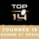 Calendrier Top 14 2020-2021 – 15ème journée - Programme et résultats