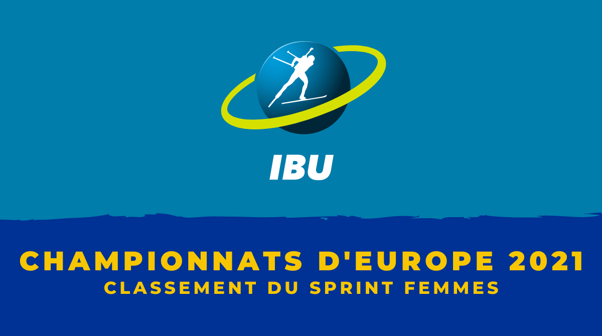 Championnats d'Europe de biathlon 2021 - Le classement du sprint femmes