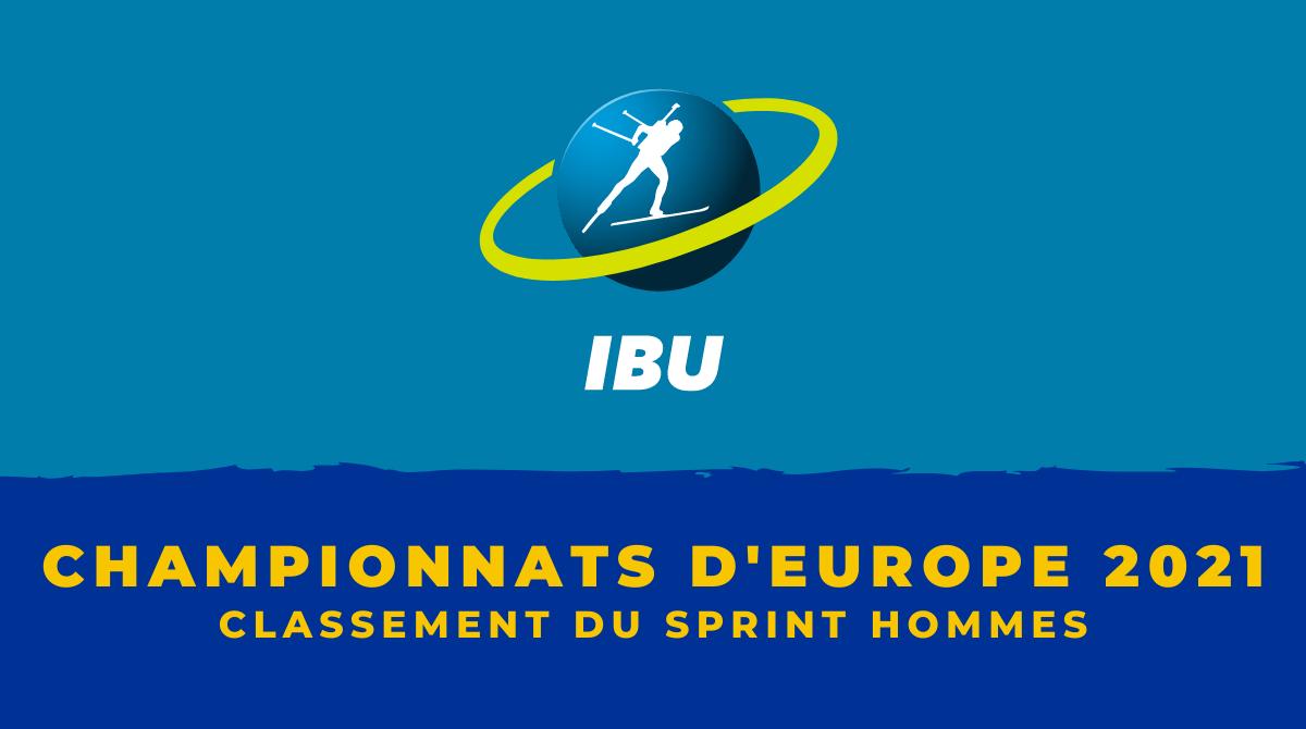 Championnats d'Europe de biathlon 2021 - Le classement du sprint hommes
