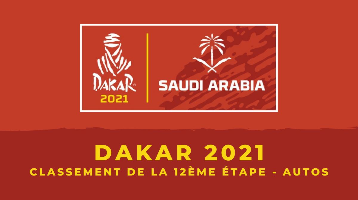 Dakar 2021 - Autos - Le classement de la 12ème et dernière étape
