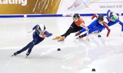 Short track : La France championne d'Europe du relais 3000 mètres