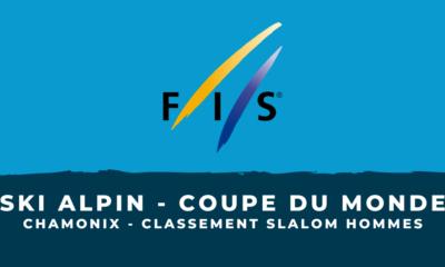 Ski alpin - Chamonix - Le classement du slalom hommes