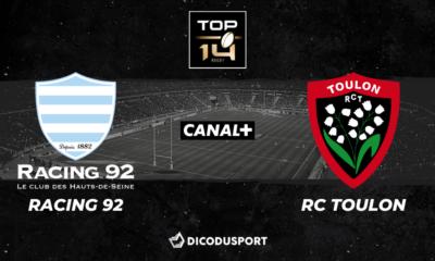 Top 14 - Notre pronostic pour Racing 92 - RC Toulon
