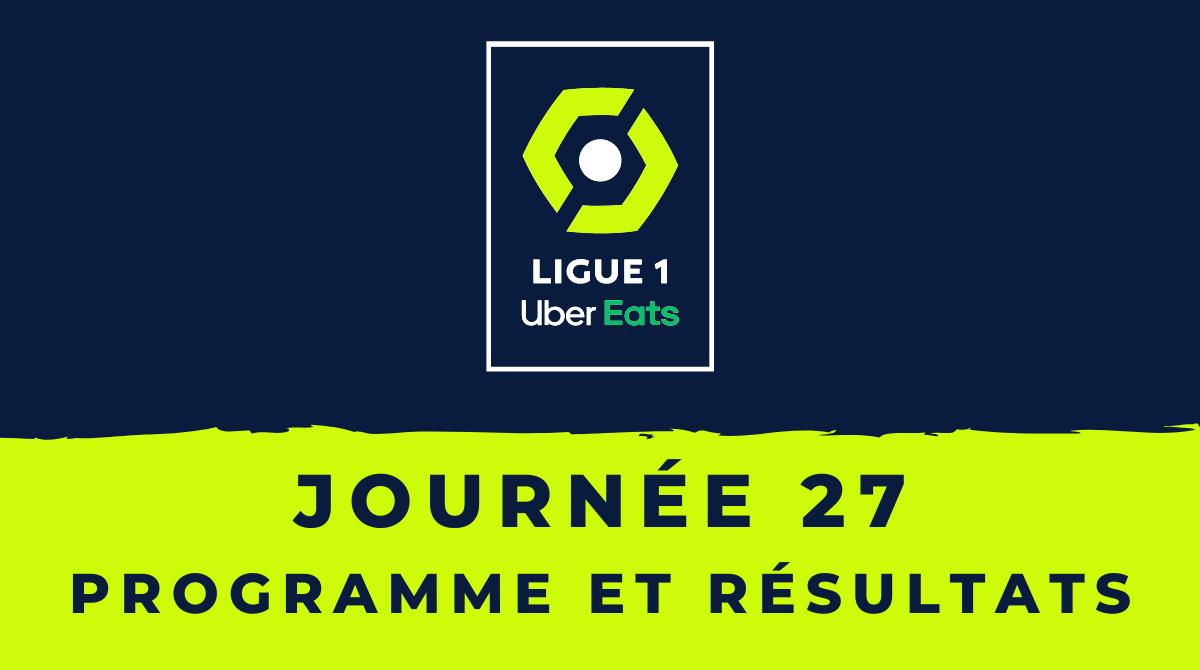 Calendrier Ligue 1 2020-2021 - 27ème journée Programme et résultats