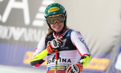Cortina d'Ampezzo - Katharina Liensberger meilleur temps de la 1ère manche du slalom