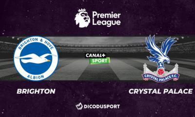 Football - Premier League notre pronostic pour Brighton - Crystal Palace