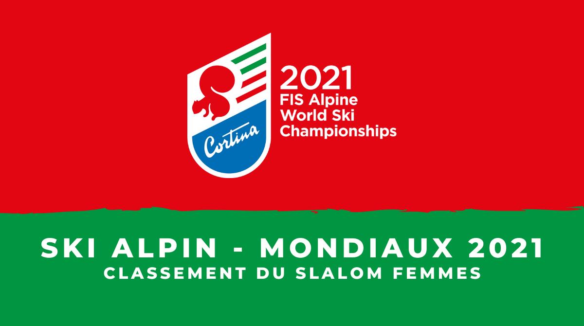 Ski alpin - Championnats du monde 2021 - Le classement du slalom femmes