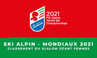 Ski alpin - Championnats du monde 2021 - Le classement du slalom géant femmes
