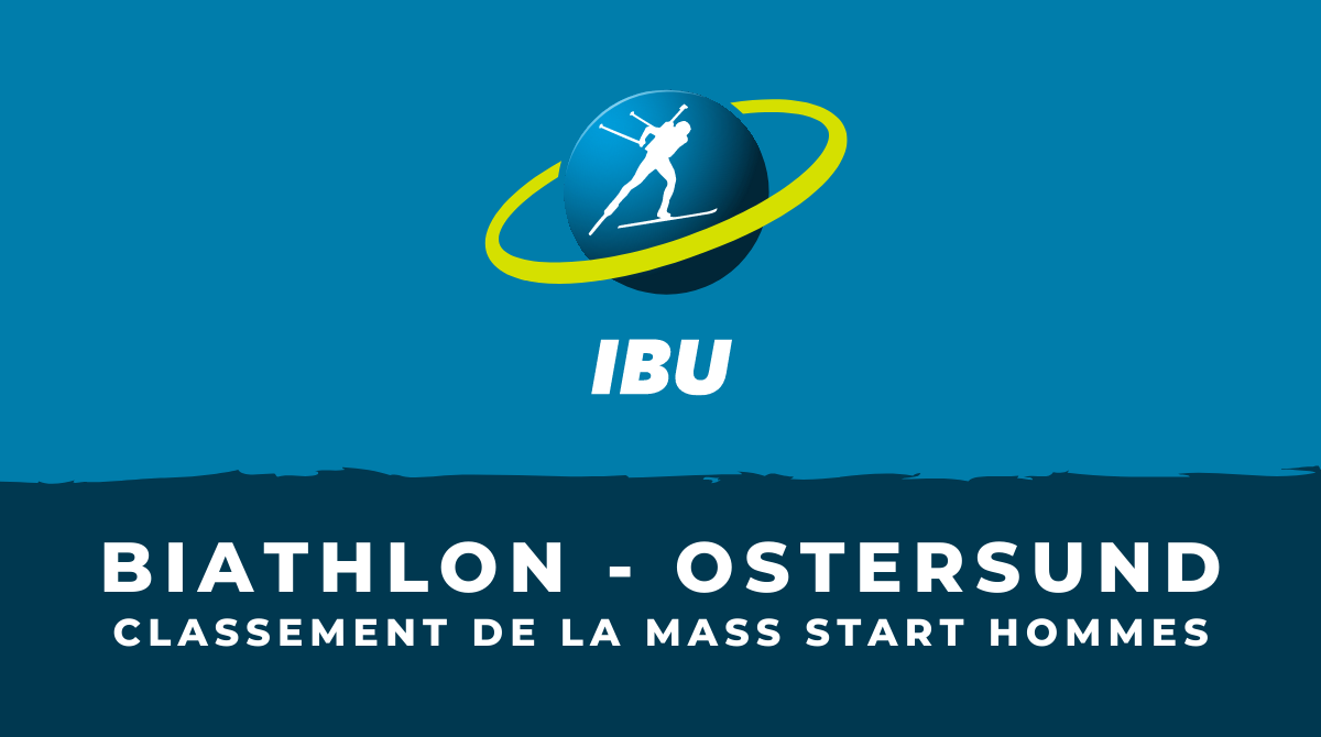Biathlon - Ostersund - Le classement de la mass start hommes