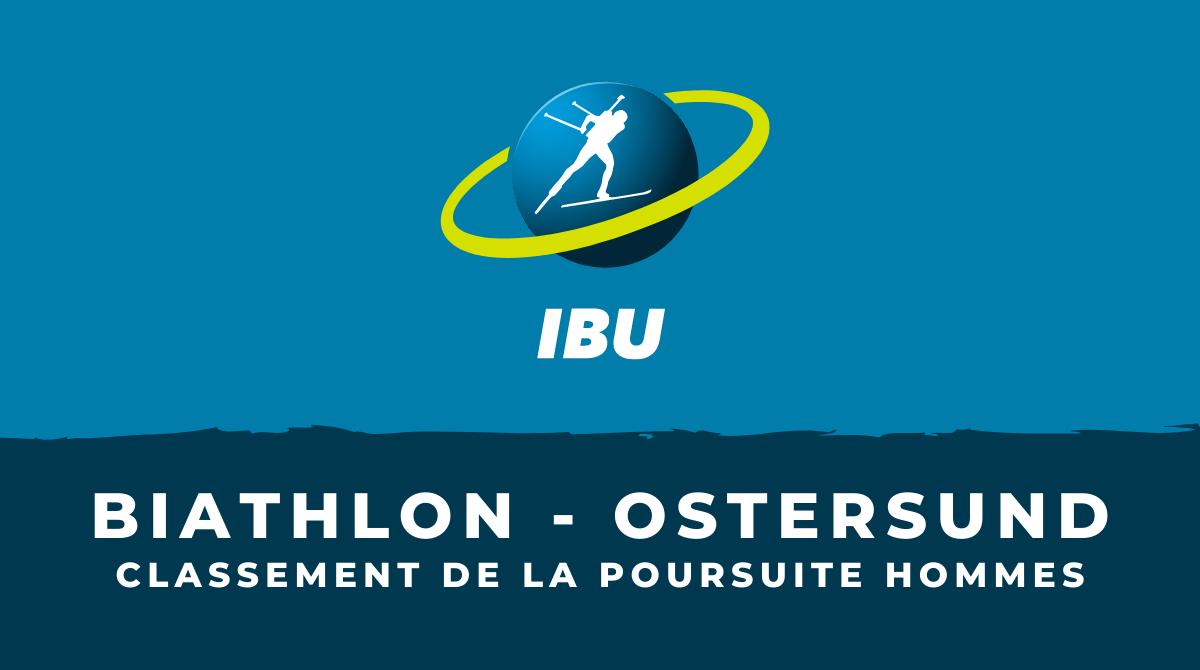Biathlon - Ostersund - Le classement de la poursuite hommes