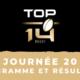 Calendrier Top 14 2020-2021 – 20ème journée - Programme et résultats