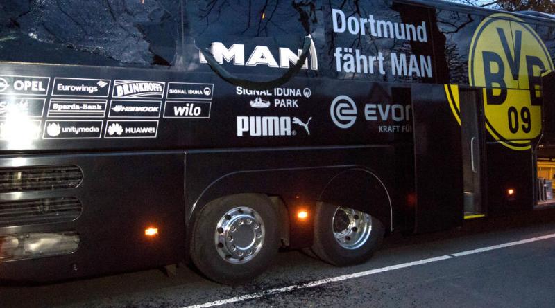 11 avril 2017 - Le bus de Dortmund visé par une attaque