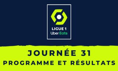 Calendrier Ligue 1 2020-2021 - 31ème journée Programme et résultats