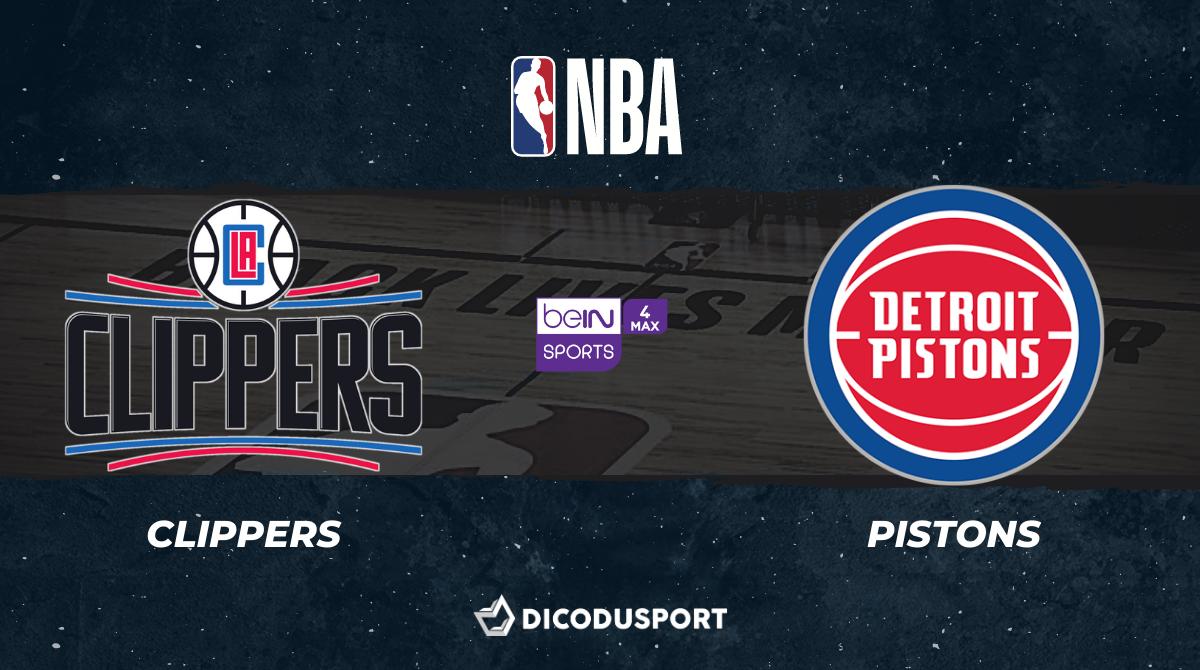 NBA notre pronostic pour Los Angeles Clippers - Detroit Pistons