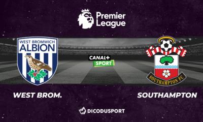Pronostic West Bromwich Albion - Southampton, 31ème journée de Premier League