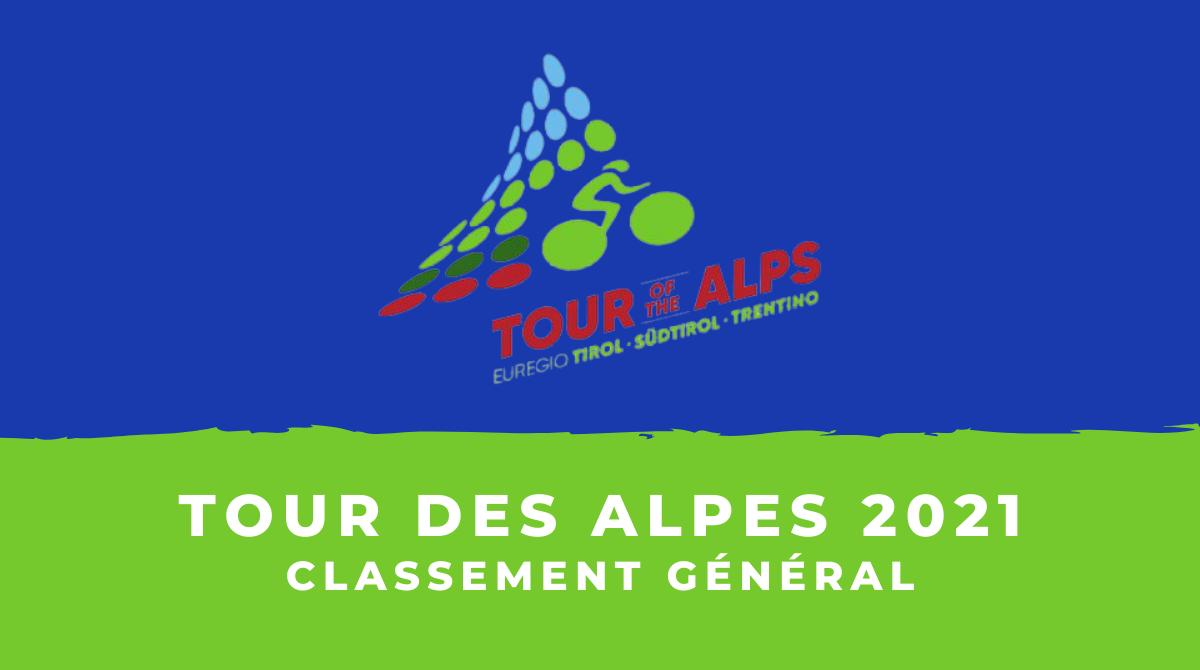 Tour des Alpes 2021 - Le classement général