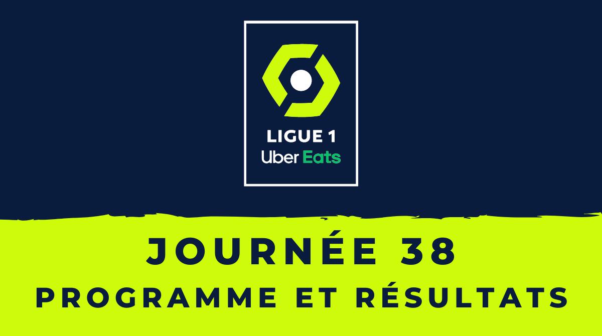 Calendrier Ligue 1 2020-2021 - 38ème journée Programme et résultats