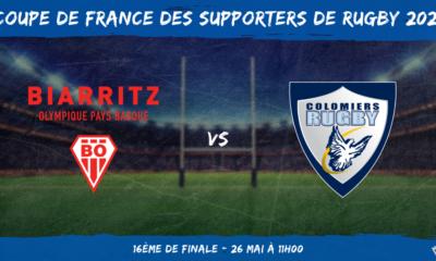 Coupe de France des supporters de rugby 2021 – 16ème de finale Biarritz Olympique – Colomiers Rugby