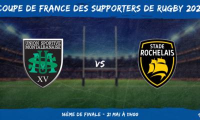 Coupe de France des supporters de rugby 2021 - 16ème de finale Montauban - Stade Rochelais