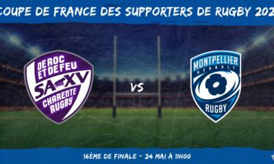 Coupe de France des supporters de rugby 2021 - 16ème de finale Soyaux-Angoulême – Montpellier Hérault Rugby