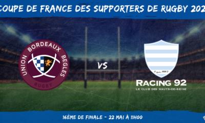 Coupe de France des supporters de rugby 2021 - 16ème de finale UBB – Racing 92