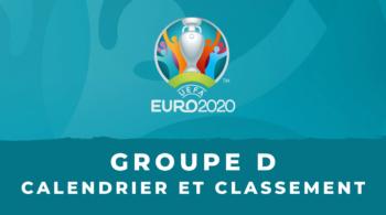 Euro 2020 – Groupe D calendrier et classement