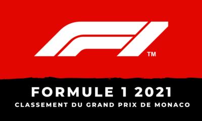 F1 - Grand Prix de Monaco 2021 - Le classement de la course