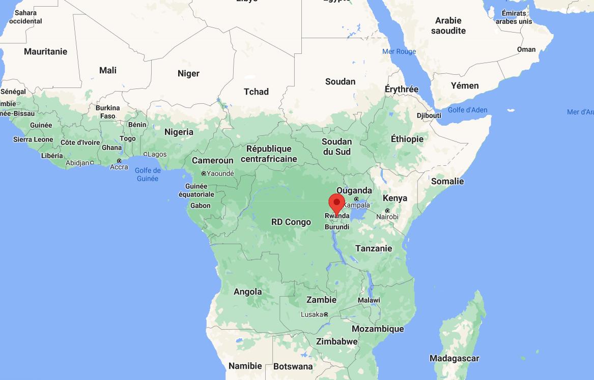 Emplacement du Rwanda