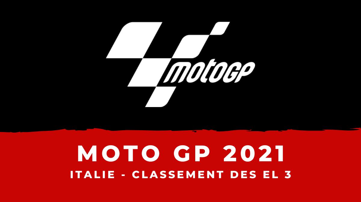 MotoGP - Grand Prix d'Italie 2021 : le classement des essais libres 3