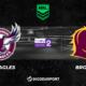 Pronostic Manly Sea Eagles - Brisbane Broncos, 10ème journée de NRL