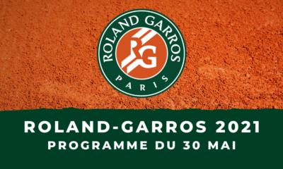 Roland-Garros 2021 le programme des matchs du dimanche 30 mai