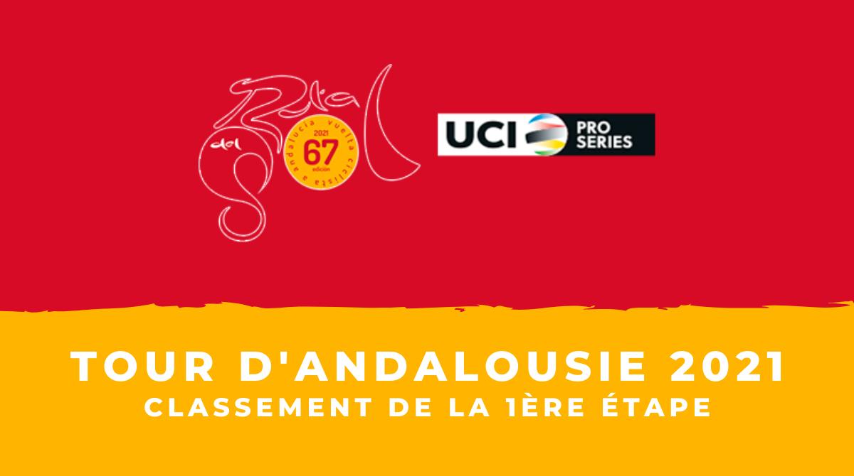 Tour d'Andalousie 2021 - Le classement de la 1ère étape