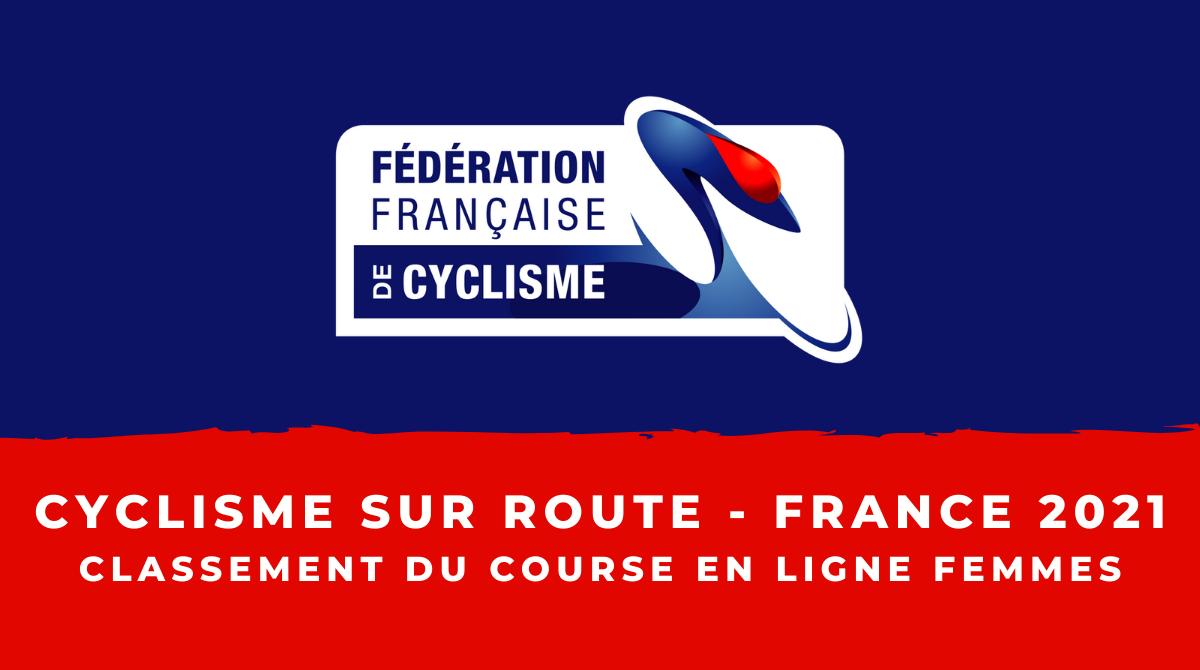 Championnats de France 2021 - Course en ligne femmes : le classement