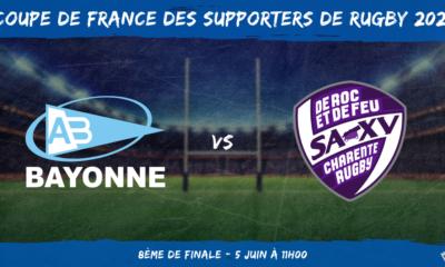 Coupe de France des supporters de rugby 2021 - 8ème de finale Aviron Bayonnais - Soyaux-Angoulême