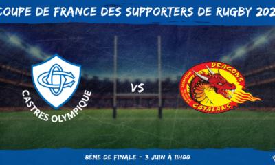Coupe de France des supporters de rugby 2021 - 8ème de finale Castres Olympique - Dragons Catalans