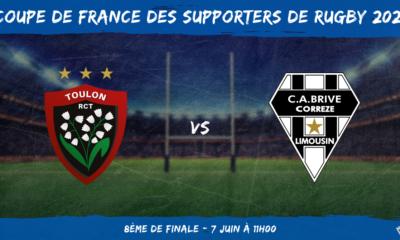 Coupe de France des supporters de rugby 2021 - 8ème de finale RC Toulon - CA Brive