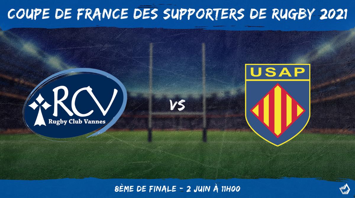 Coupe de France des supporters de rugby 2021 - 8ème de finale RC Vannes - USAP